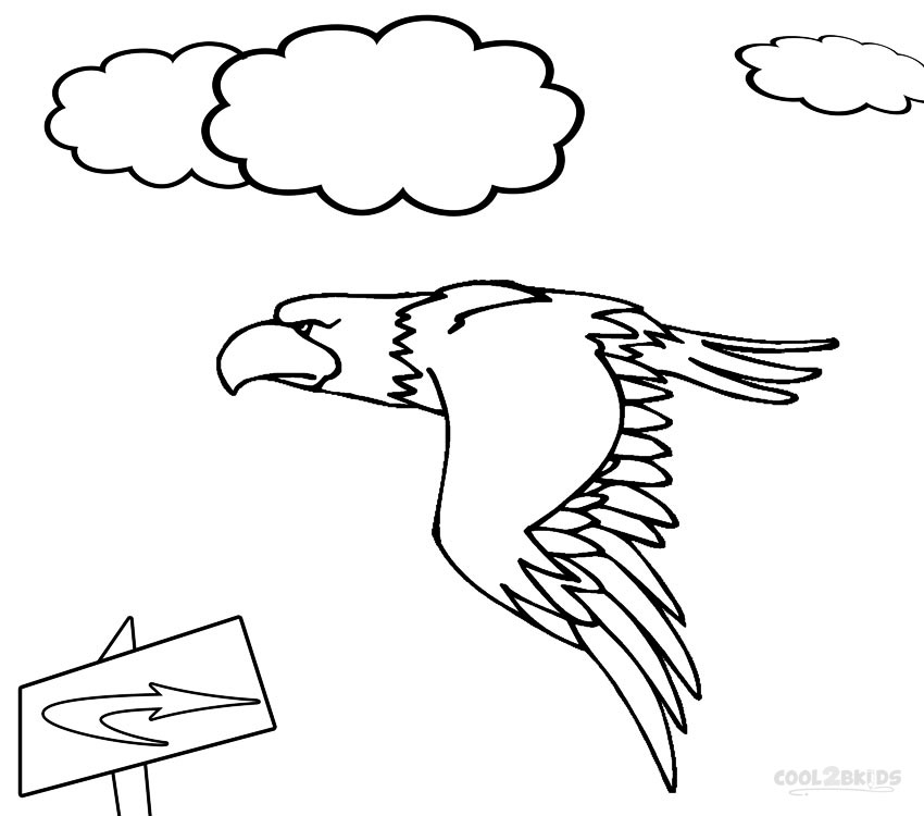 850x750 Printable Bald Eagle Coloring Pages For Kids