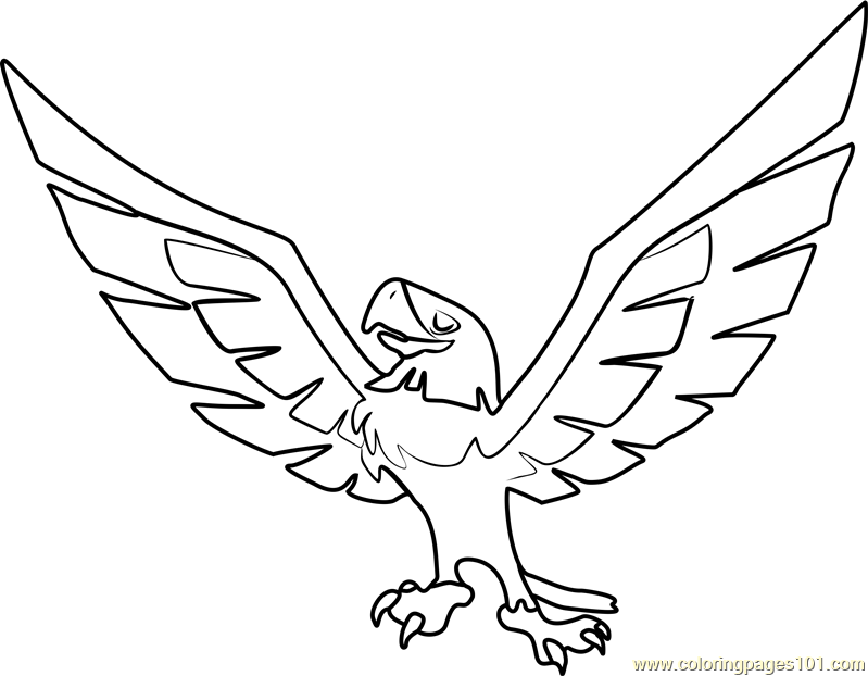 799x622 Eagle Animal Jam Coloring Page