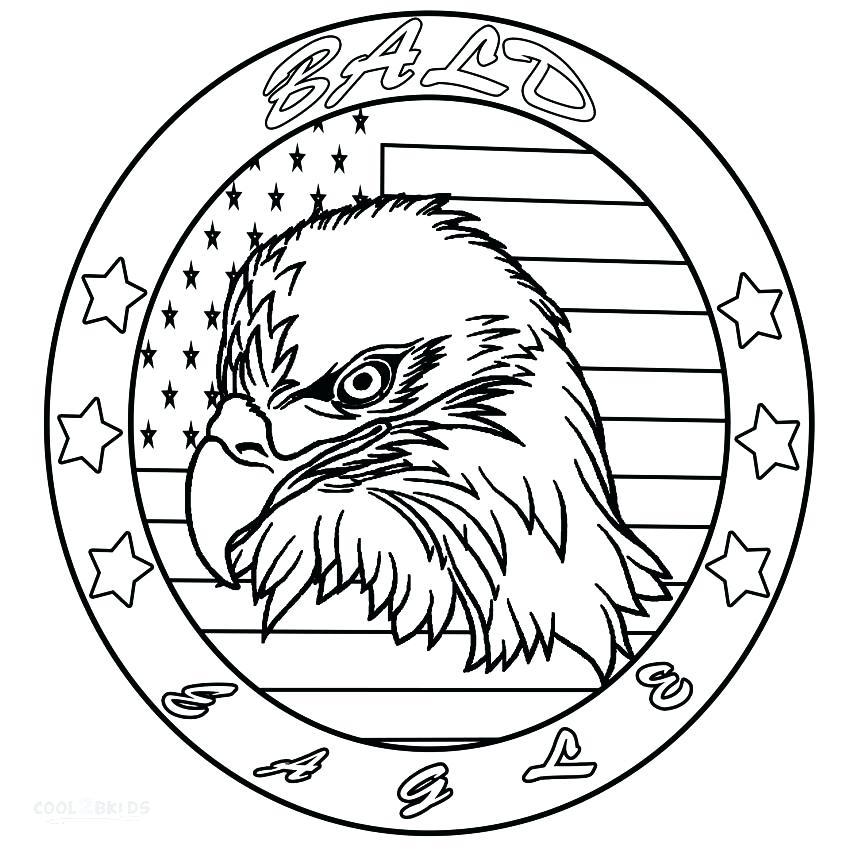 850x850 Eagle Color Page Bald Eagle Head Coloring Pages Bald Eagle