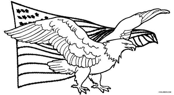 612x333 Eagle Coloring Pages For Kids Unique Eagle Color Page