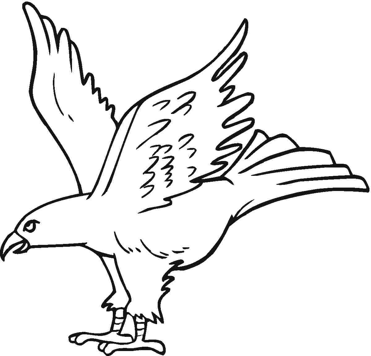 1200x1150 Free Printable Eagle Coloring Pages For Kids Free Printable