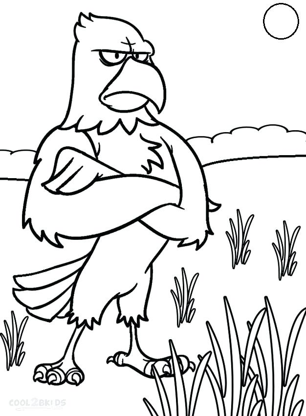 626x850 Bald Eagle Pictures To Color Bald Eagle Coloring Pages For Kids