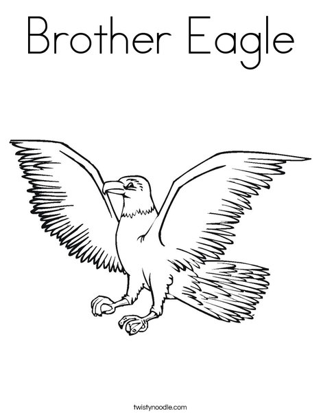 468x605 Brother Eagle Coloring Page