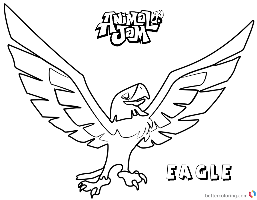 900x700 Animal Jam Coloring Pages Eagle