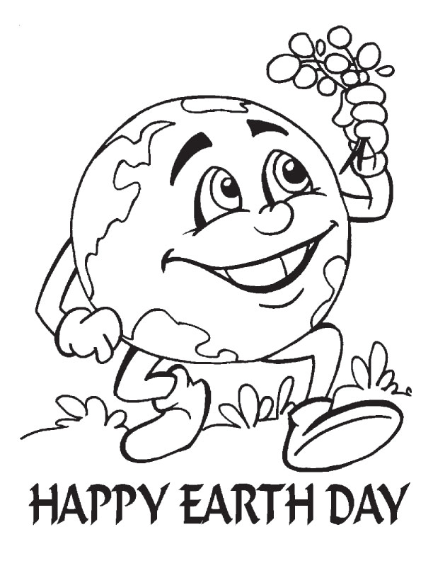 612x792 Earth Day Coloring Sheet