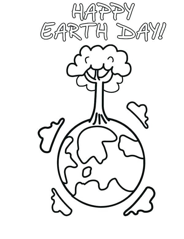 600x776 Earth For Coloring Earth Color Page Earth Day Earth Day Coloring