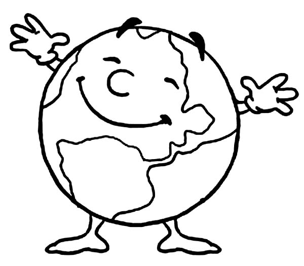 600x525 Mr Earth Day Is Very Happy Today Coloring Page