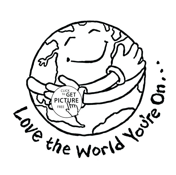 736x733 Planet Pictures To Color Planet Earth Coloring Pages Love