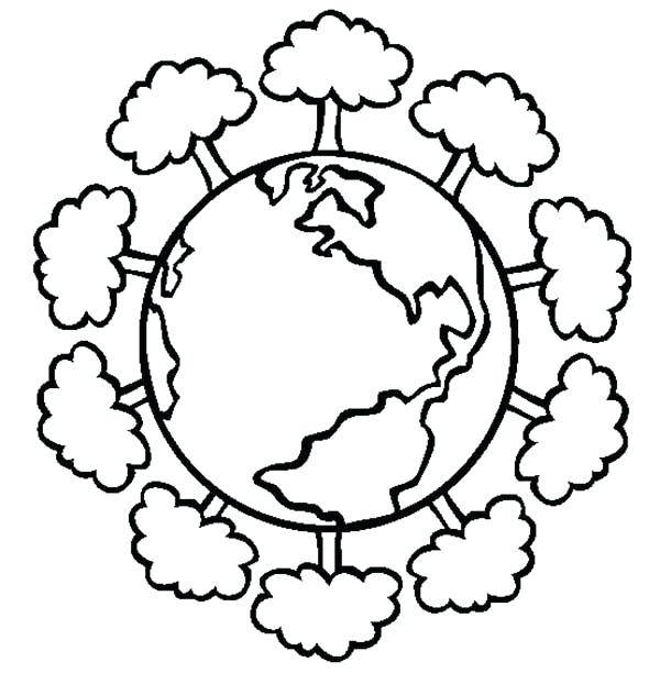 600x612 Coloring Pages Earth Earth Day Having A Healthy Forest On Earth
