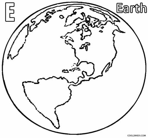 500x467 Printable Earth Coloring Pages For Kids