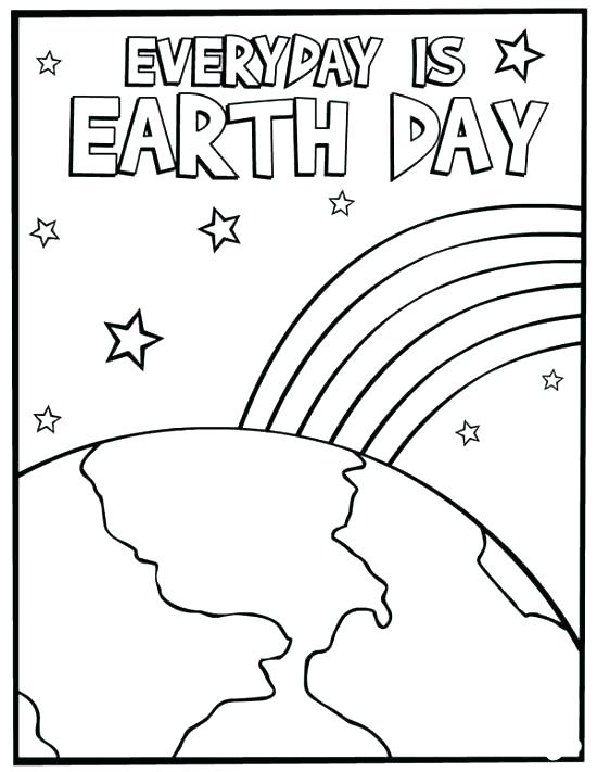 550x711 Printable Earth Day Coloring Pages