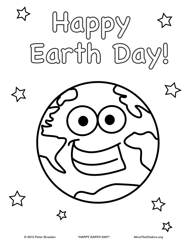612x792 Earth Day Printables For Kids Coloring Pages Earth Day Happy