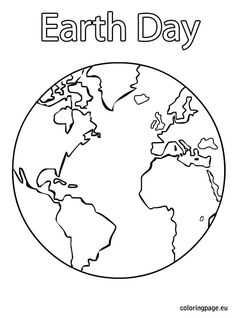 236x318 Large Earth Coloring Page Great For Earth Day Crafts Preschool