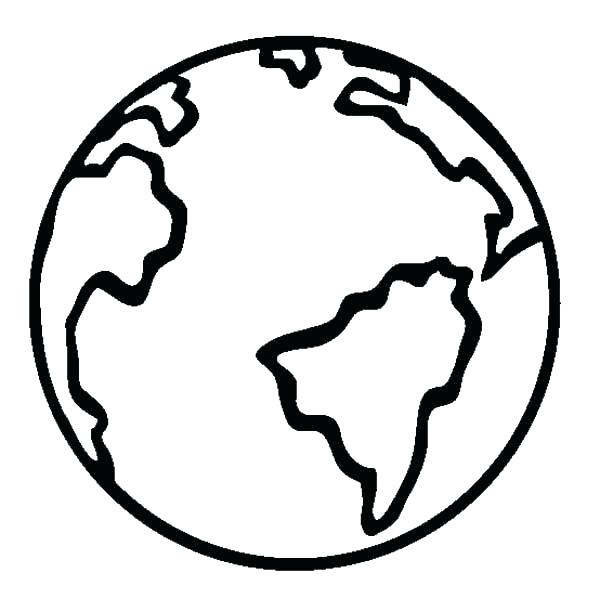600x612 Planet Earth Coloring Pages Coloring Page Of The Earth Coloring