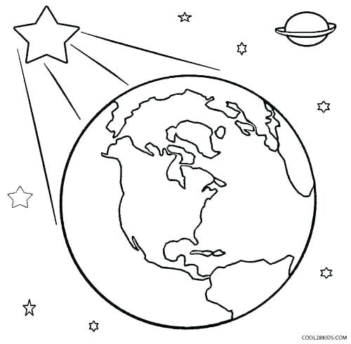 500x490 Planet Earth Coloring Pages