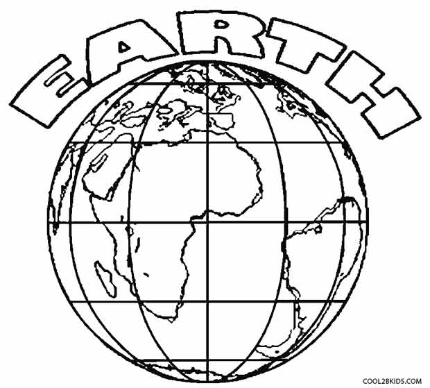 620x559 Printable Earth Coloring Pages For Kids