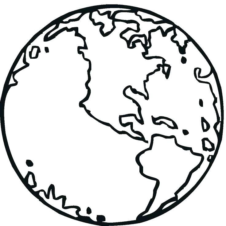 736x736 Coloring Page Earth