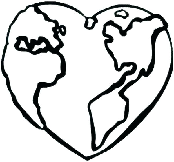 600x559 Earth Coloring Page