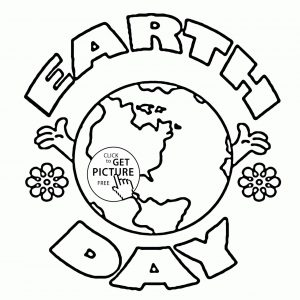 300x300 Earth Coloring Pages For Preschoolers Best Of Earth Day Logo
