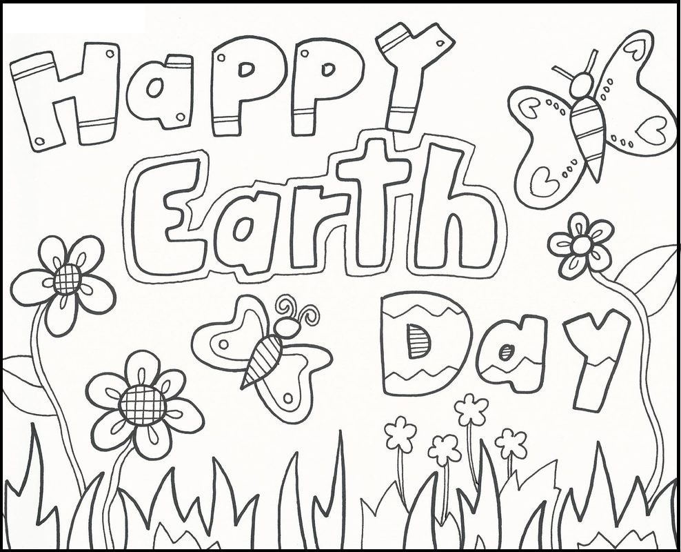 Earth Day Coloring Pages Kindergarten