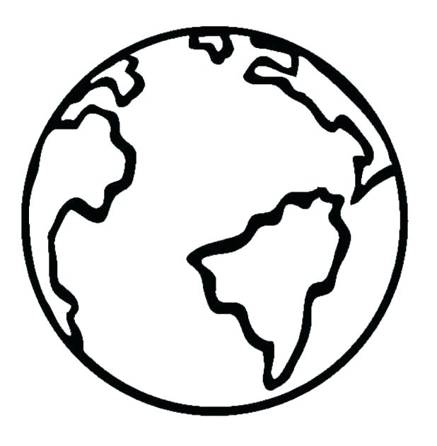 618x631 Coloring Page Of Earth Kids Coloring Pages Earth Pages Earth