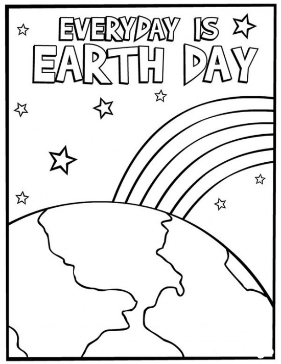 550x711 Earth Day Coloring Page