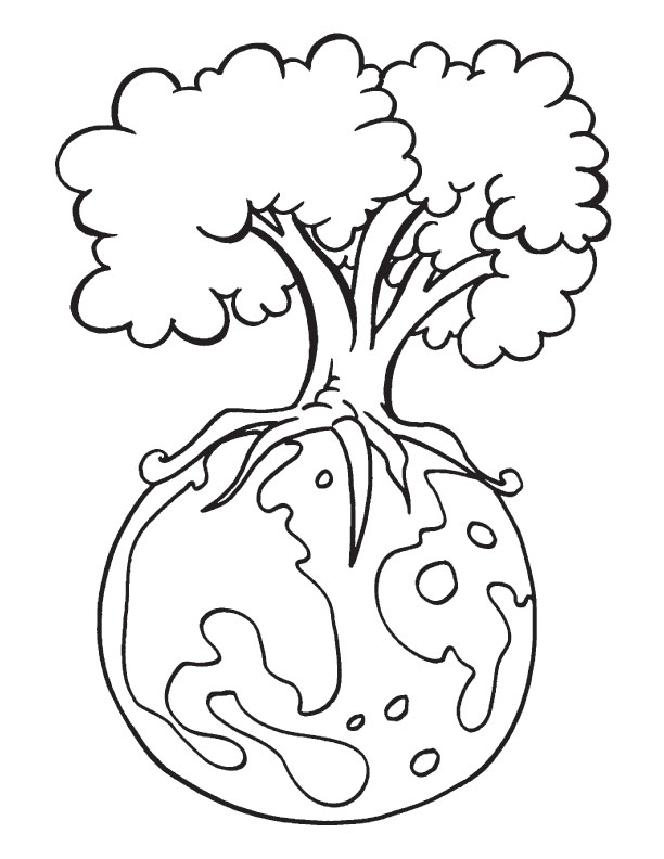612x792 Earth Day Coloring Pages