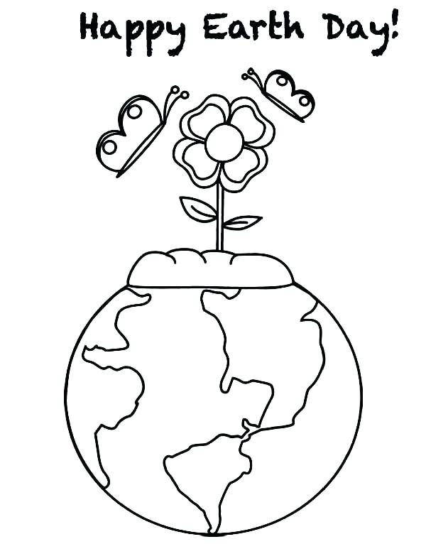 600x766 Coloring Pages Earth Go Recycling On Earth Day Coloring Page Free
