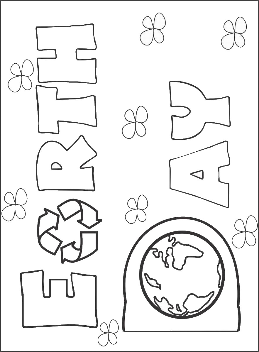 883x1200 Earth Day Coloring Pages