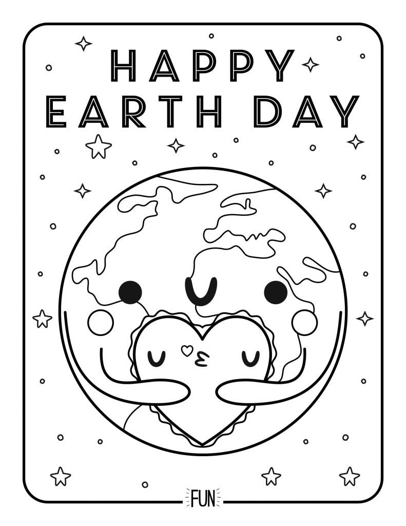 791x1024 Free Printable Coloring Page Earth Day Honest To Nod