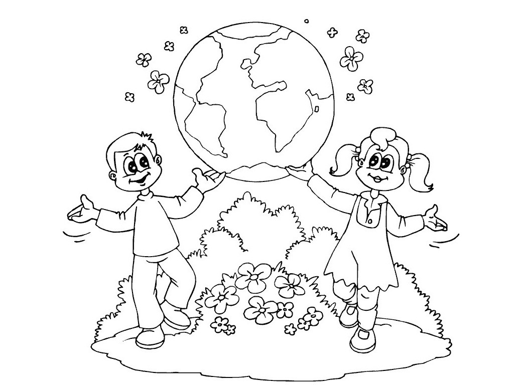 1040x780 Earth Coloring Pages For Preschoolers Fresh World Day Earth Day