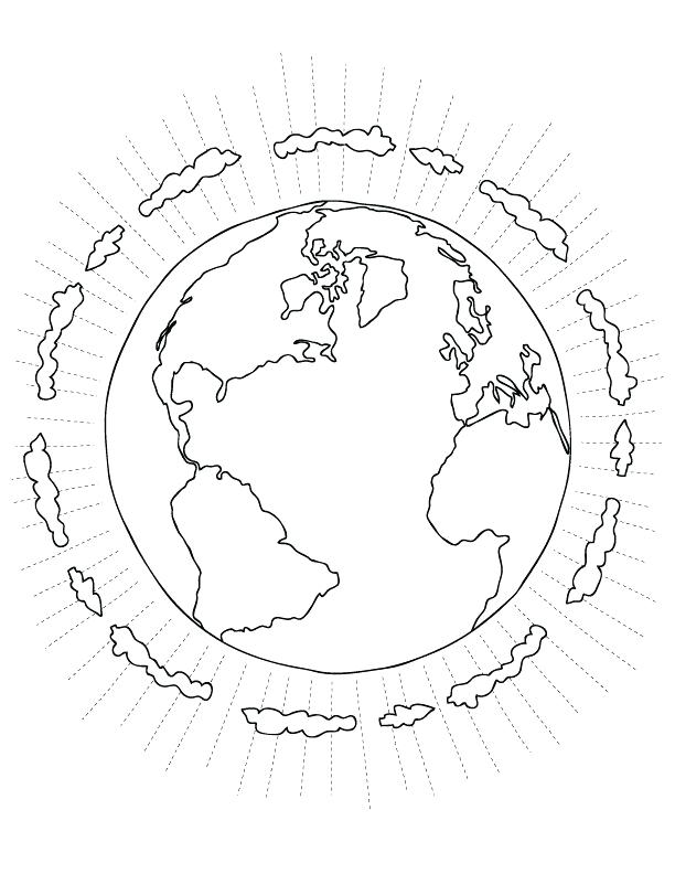 612x792 Earth Science Coloring Pages Drawn Earth Coloring Page Earth