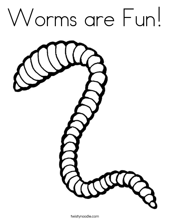 Earthworm Coloring Page