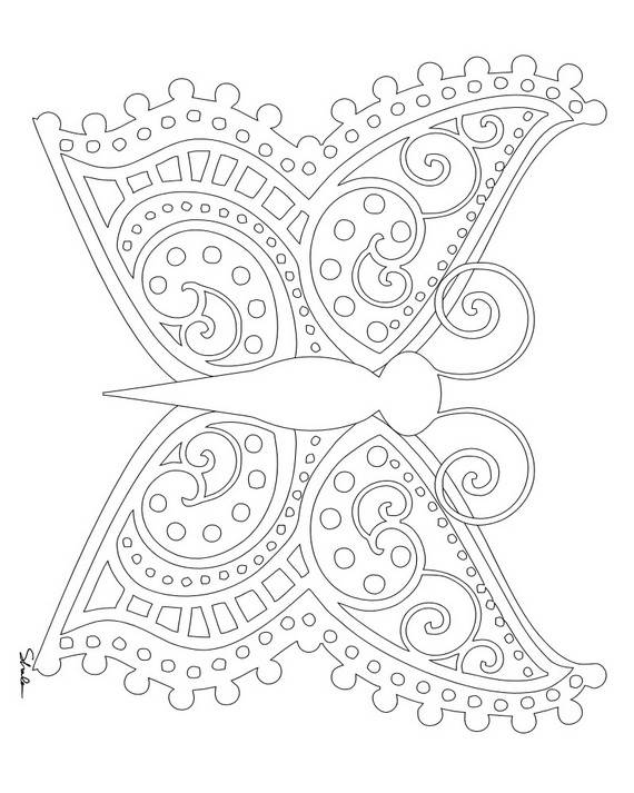 570x713 Unique Spring Easter Holiday Adult Coloring Pages Designs