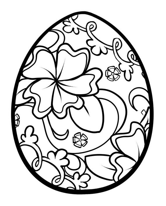 570x706 Unique Spring Easter Holiday Adult Coloring Pages Designs Fun Time