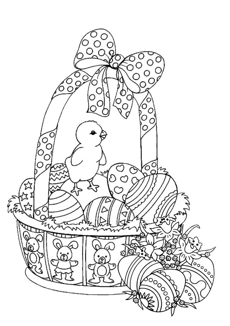 736x1041 Best Easter Coloring Pages Printables Images