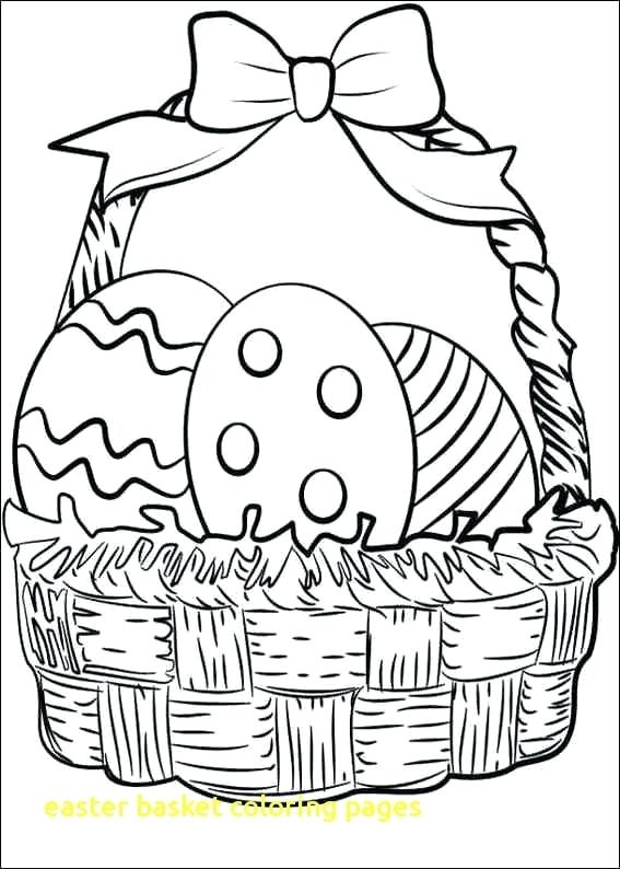 567x794 Easter Basket Coloring Pages Basket Coloring Pages With Basket