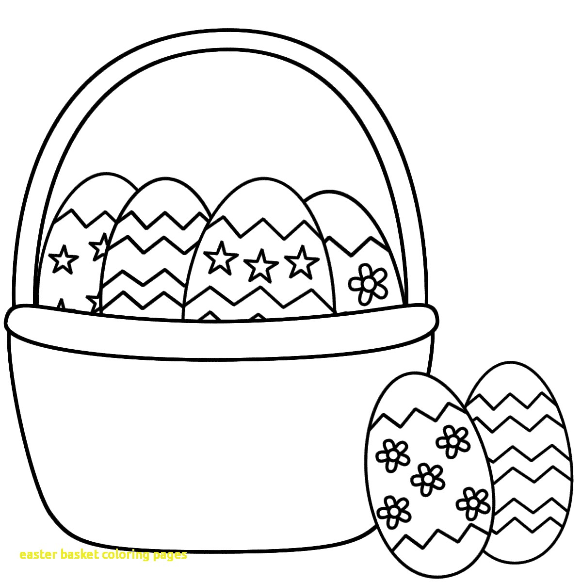 1200x1200 Easter Basket Coloring Pages With Coloring Pages Easter Baskets