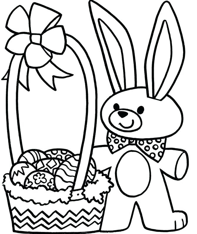 670x796 Easter Bunny Basket Coloring Page Easter Basket Coloring Pages