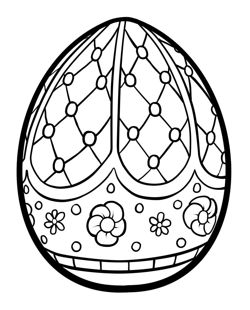 826x1023 Easter Egg Basket Coloring Pages Hd Images