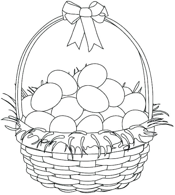 558x622 Coloring Pages Easter Basket Professional