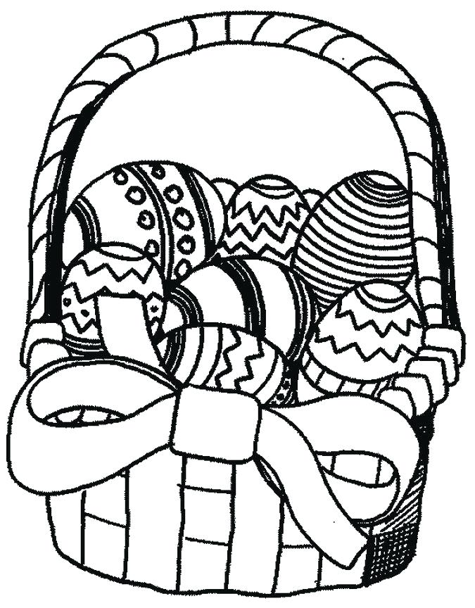 675x864 Easter Basket Coloring Pages Empty Easter Basket Coloring Pages