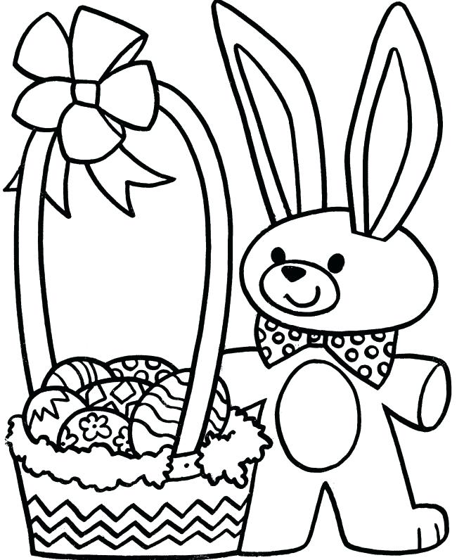 670x796 Easter Basket Coloring Pages To Print Basket Coloring Pages