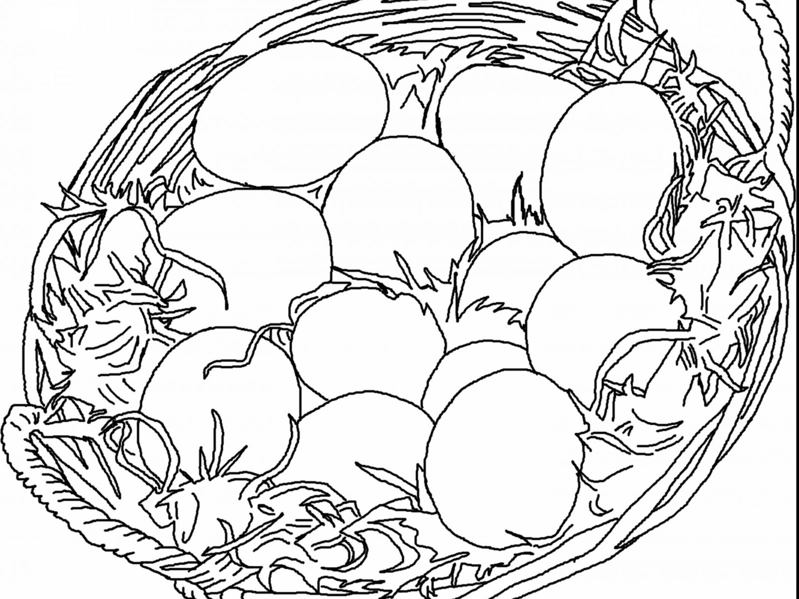 1600x1200 Easter Basket Colorings For Kids Sensational Bunny Egg Colouring