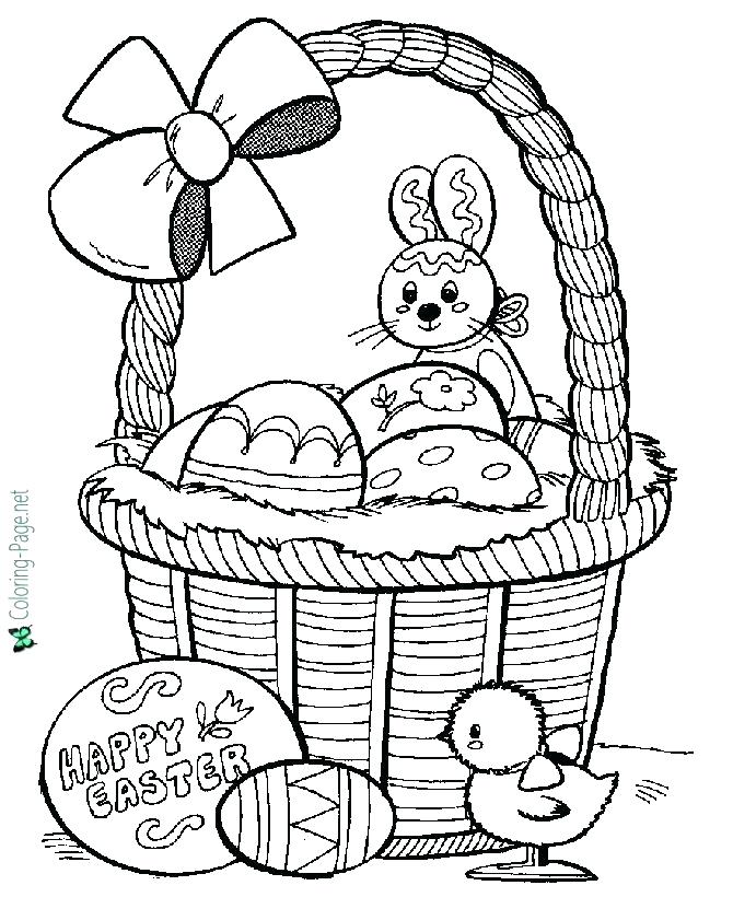 670x820 Easter Basket Printable Coloring Pages Coloring Pages Easter Egg