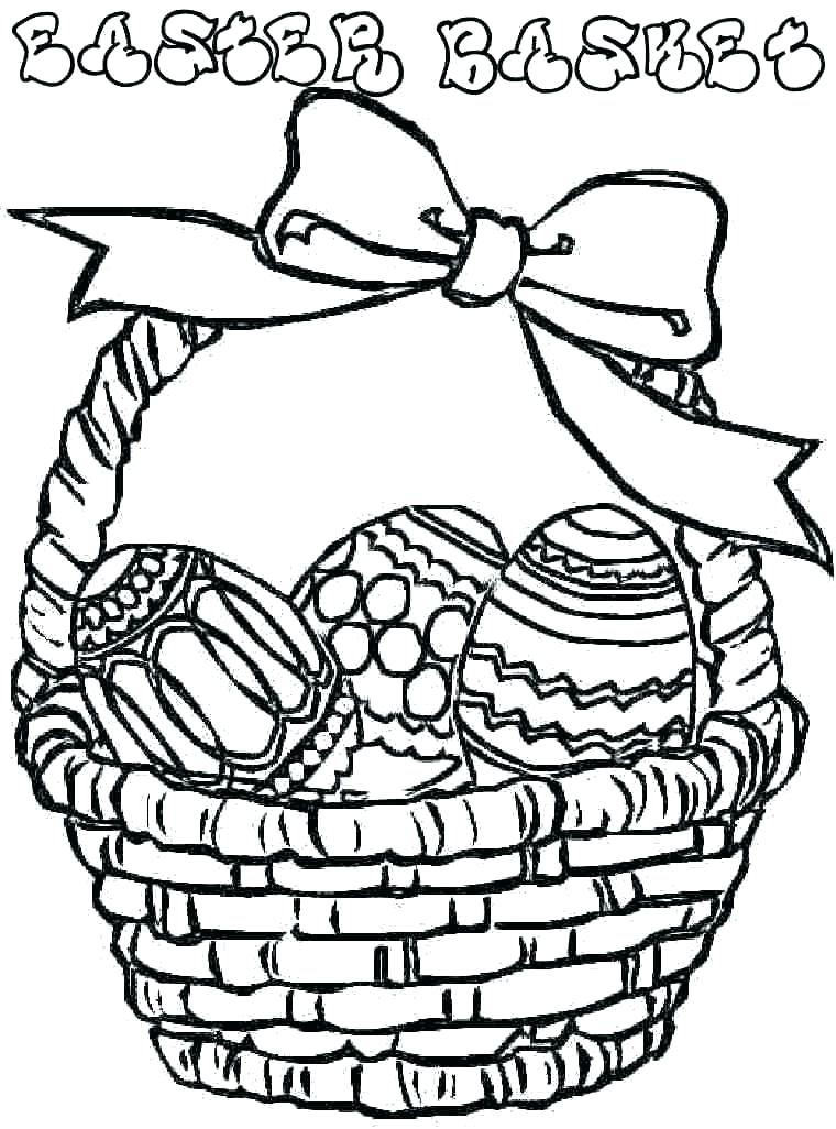 760x1026 Easter Baskets Coloring Pages Basket Coloring Pages To Print Free