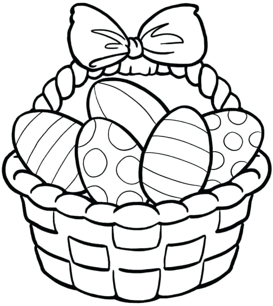 913x1024 Coloring Easter Basket Pages Within