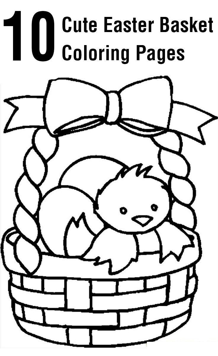 736x1200 Top Free Printable Easter Basket Coloring Pages Online Jaja