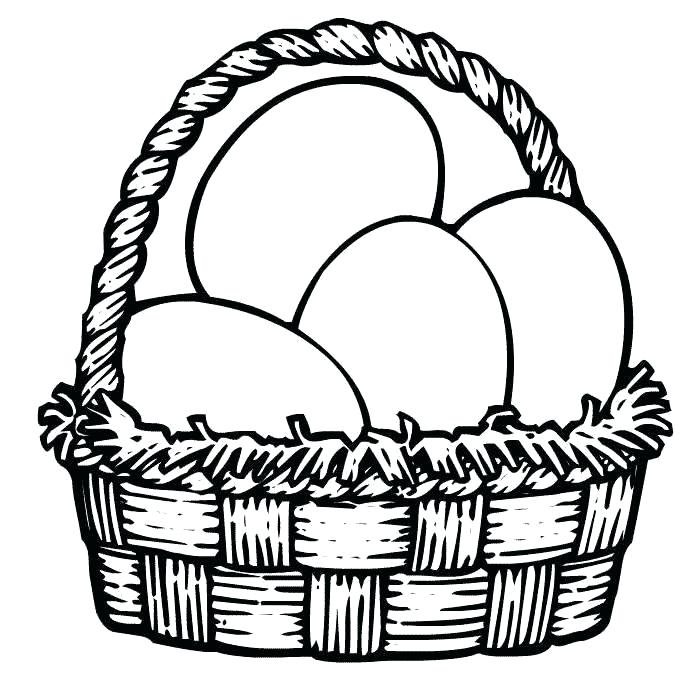 700x700 Coloring Pages Easter Basket Professional