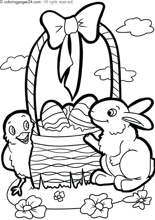 539x765 Easter Basket Coloring Pages